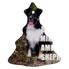 Mini Australian Shepherd Black Tri Love W Pic Christmas Tree Ornament (Two Sides)