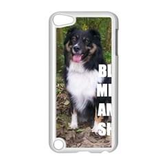 Mini Australian Shepherd Black Tri Love W Pic Apple iPod Touch 5 Case (White)