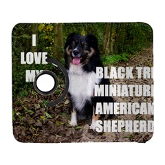 Mini Australian Shepherd Black Tri Love W Pic Galaxy S3 (Flip/Folio)
