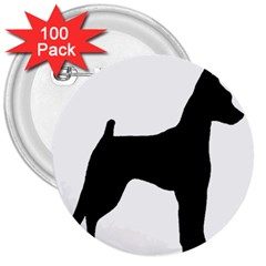 Min Pin Silo Black 3  Buttons (100 pack)