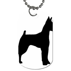 Min Pin Silo Black Dog Tag (One Side)