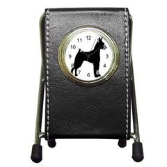 Min Pin Silo Black Pen Holder Desk Clocks