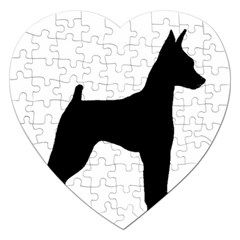 Min Pin Silo Black Jigsaw Puzzle (Heart)