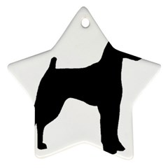 Min Pin Silo Black Star Ornament (Two Sides)