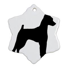 Min Pin Silo Black Ornament (Snowflake)