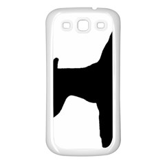 Min Pin Silo Black Samsung Galaxy S3 Back Case (White)