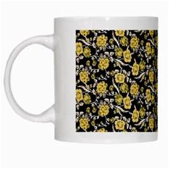 Roses pattern White Mugs
