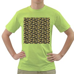Roses pattern Green T-Shirt