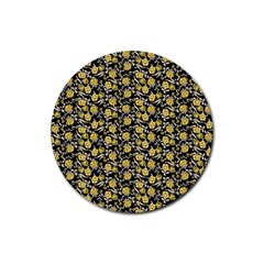 Roses pattern Rubber Round Coaster (4 pack)
