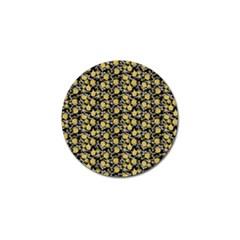 Roses pattern Golf Ball Marker