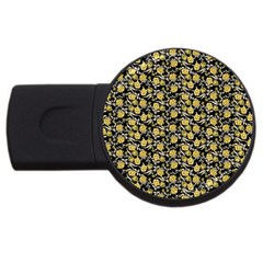 Roses pattern USB Flash Drive Round (4 GB)