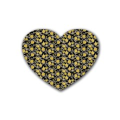 Roses pattern Rubber Coaster (Heart)