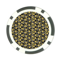 Roses pattern Poker Chip Card Guard