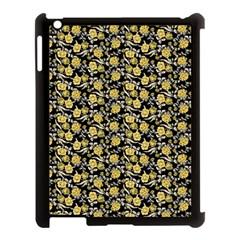 Roses pattern Apple iPad 3/4 Case (Black)
