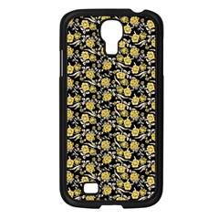 Roses pattern Samsung Galaxy S4 I9500/ I9505 Case (Black)