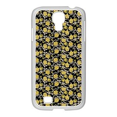 Roses pattern Samsung GALAXY S4 I9500/ I9505 Case (White)