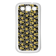 Roses pattern Samsung Galaxy S3 Back Case (White)