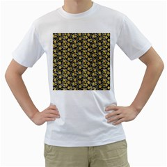 Roses pattern Men s T-Shirt (White)