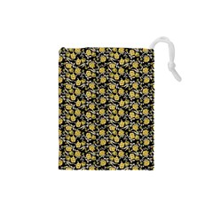 Roses pattern Drawstring Pouches (Small)