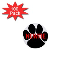 Newfie Name Paw 1  Mini Buttons (100 pack)