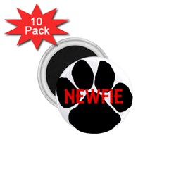 Newfie Name Paw 1.75  Magnets (10 pack)