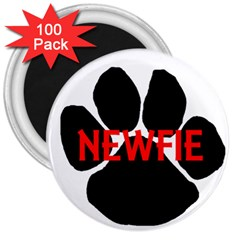 Newfie Name Paw 3  Magnets (100 pack)