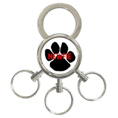 Newfie Name Paw 3-Ring Key Chains