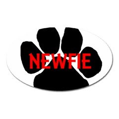 Newfie Name Paw Oval Magnet