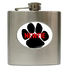 Newfie Name Paw Hip Flask (6 oz)