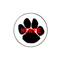 Newfie Name Paw Hat Clip Ball Marker (4 pack)