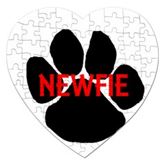 Newfie Name Paw Jigsaw Puzzle (Heart)