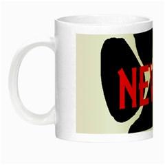 Newfie Name Paw Night Luminous Mugs