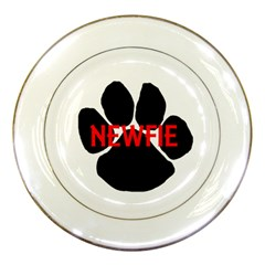 Newfie Name Paw Porcelain Plates