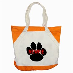 Newfie Name Paw Accent Tote Bag