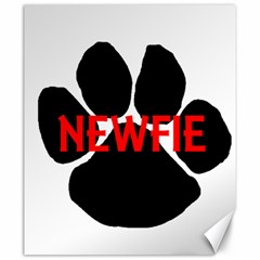 Newfie Name Paw Canvas 20  x 24