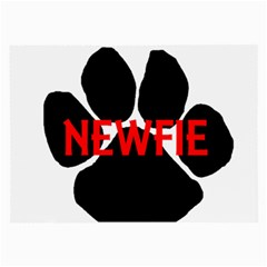 Newfie Name Paw Large Glasses Cloth (2-Side)