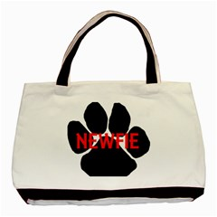 Newfie Name Paw Basic Tote Bag (Two Sides)