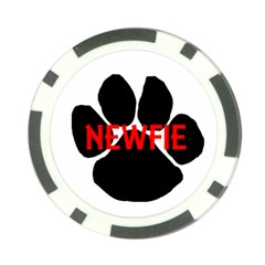 Newfie Name Paw Poker Chip Card Guard