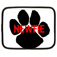 Newfie Name Paw Netbook Case (XXL)