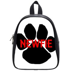 Newfie Name Paw School Bags (Small)