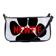 Newfie Name Paw Shoulder Clutch Bags
