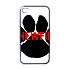 Newfie Name Paw Apple iPhone 4 Case (Black)