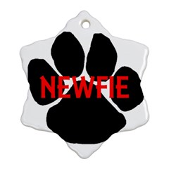 Newfie Name Paw Ornament (Snowflake)