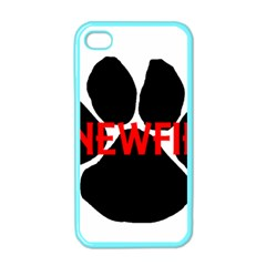 Newfie Name Paw Apple iPhone 4 Case (Color)