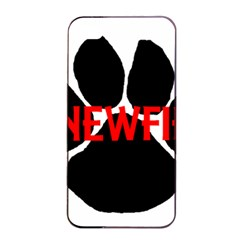 Newfie Name Paw Apple iPhone 4/4s Seamless Case (Black)