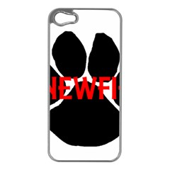 Newfie Name Paw Apple iPhone 5 Case (Silver)