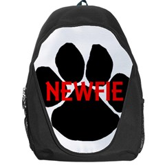Newfie Name Paw Backpack Bag
