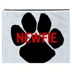 Newfie Name Paw Cosmetic Bag (XXXL)