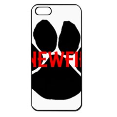 Newfie Name Paw Apple iPhone 5 Seamless Case (Black)