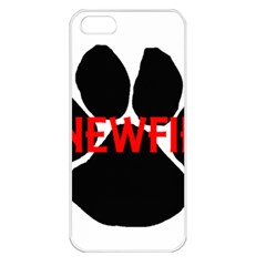 Newfie Name Paw Apple iPhone 5 Seamless Case (White)